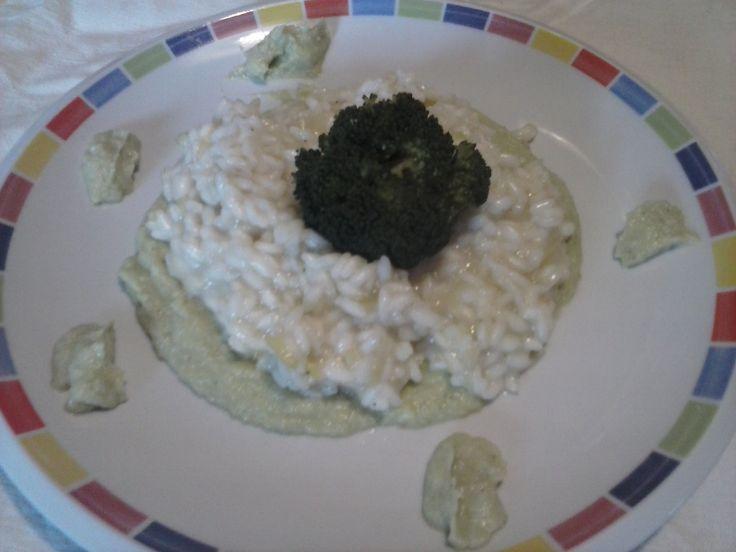 Risotto Champagne e maionese di Broccoli