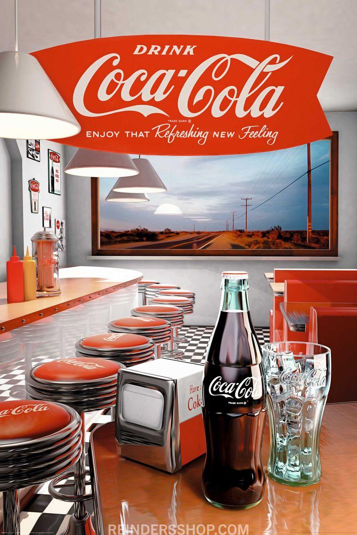 Vintage Coca Cola, Diners, Posters, Retro, Decoration, Ps, Vintage Coke,  Restaurants, Decorating