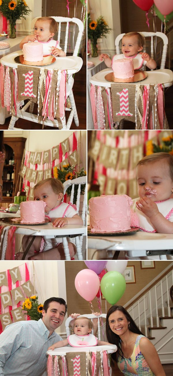 I LOVE this birthday decor!! Eloise's Pink Picnic First Birthday Party • The Wise Baby