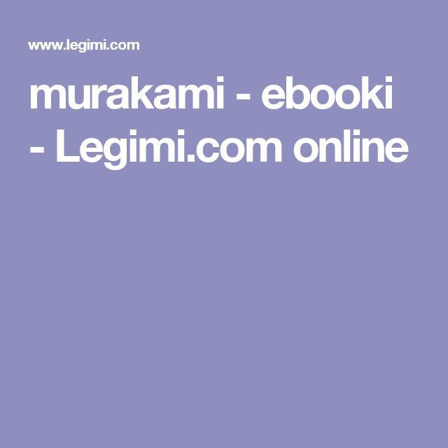 murakami - ebooki - Legimi.com online