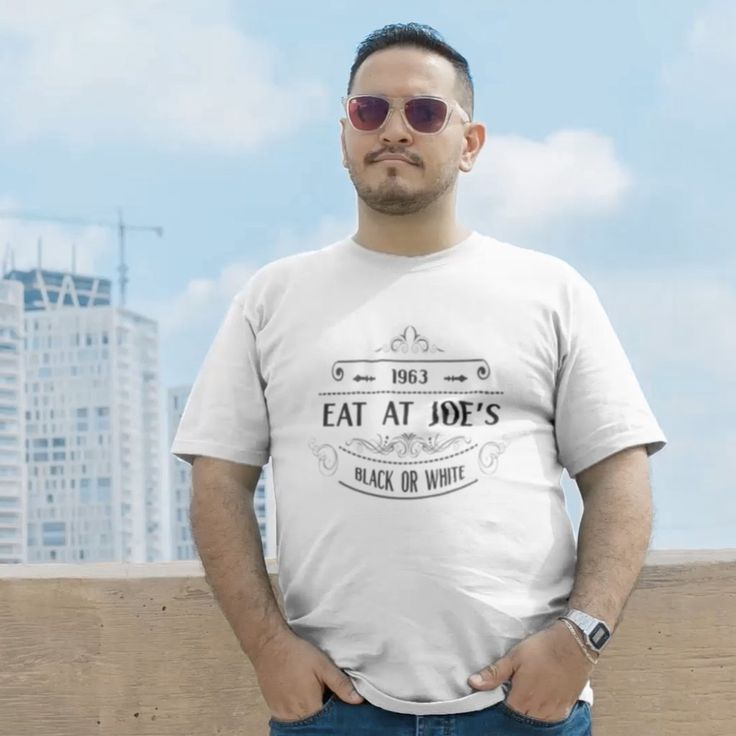 Eat at Joe's | Black or White - Short Sleeve T-Shirt (Unisex/Men's) #untiljusticerollsdown #civilrights #movies #documentary #indiefilm #film #1960s #freedomwalkers #equalrights #retro #vintage #menswear #mens #fashion #apparel #tshirts #shirts