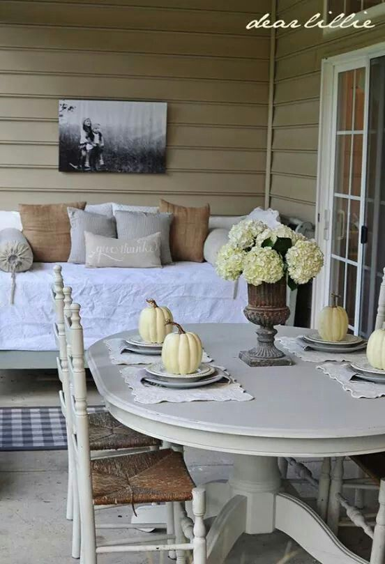 Need to do something likethis in the screened in porch with te futon cover and pillows