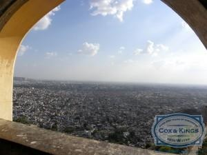 Our next halt was Nahargarh Fort. Nahargarh stands on the edge of the Aravalli Hills, overlooking the pink city of Jaipur.   The view from Nahargarh Fort The view of the city from the fort is breath-taking. Originally named Sudarshangarh, it became known as Nahargarh, which means 'abode of tigers'. #CoxandKings