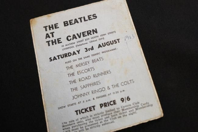 CONCERT TICKET FROM THE BEATLES' FINAL PERFORMANCE AT THE CAVERN CLUB GOES ON DISPLAY 54 YEARS ON