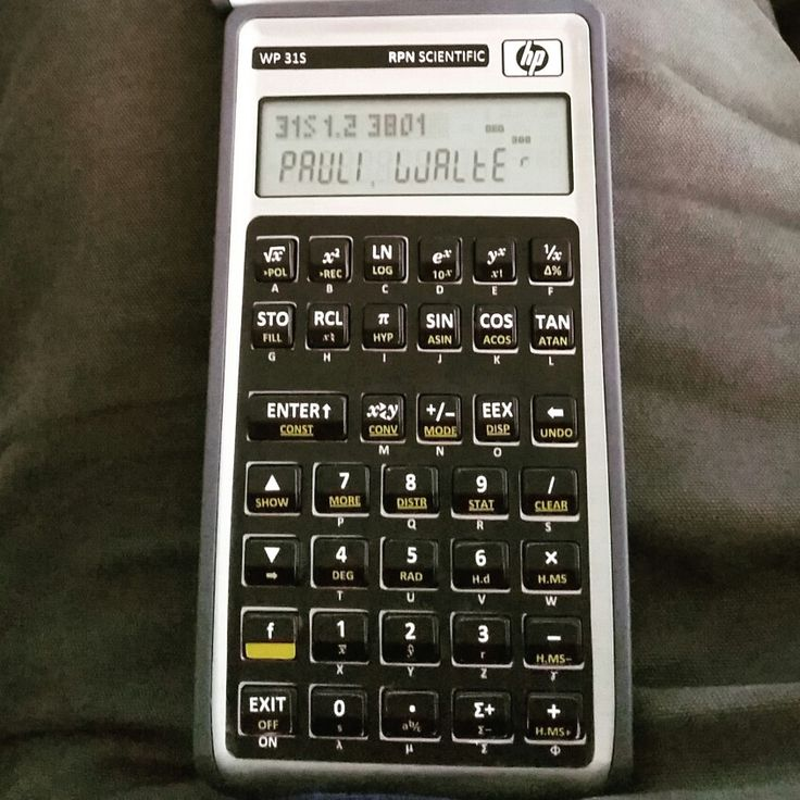 WP 31S RPN scientific calculator - A former HP 30b financial converted with new firmware and a vinyl overlay. This is a streamlined version of the WP 34S with a less cluttered keyboard. You can convert them or buy them already converted.