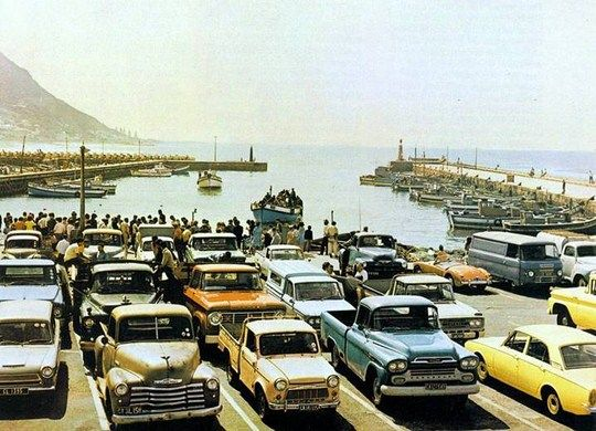 Kalk Bay Harbour - look at the cars
