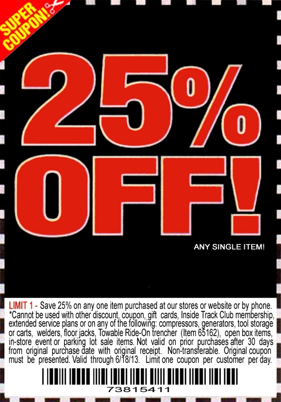 Harbor Freight 25 Off Printable Coupon Diy Trailers