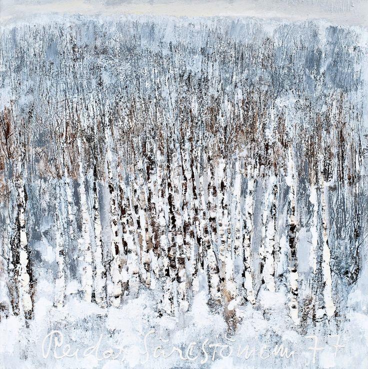 Reidar Särestöniemi(Finnish, 1925-1981) Frosty Birches    1977
