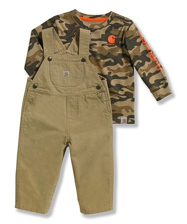 Love this Beige Ripstop Overalls & Camo Tee - Toddler by Carhartt on #zulily! #zulilyfinds