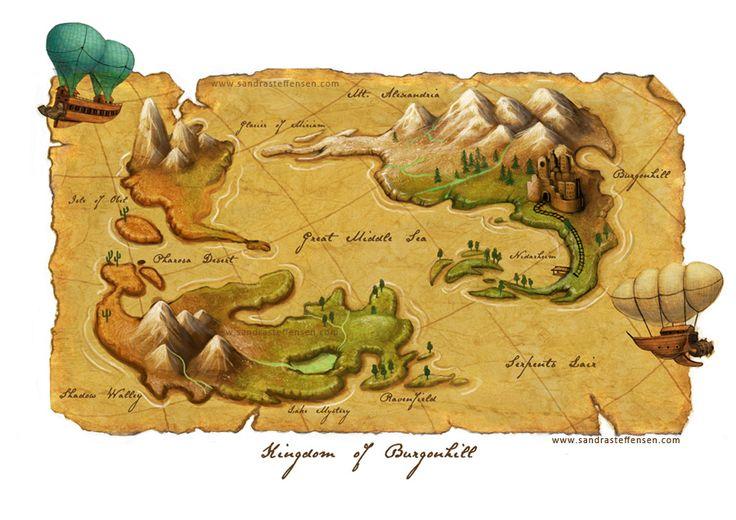 Snow White - world map by SandraKristin.deviantart.com on @deviantART
