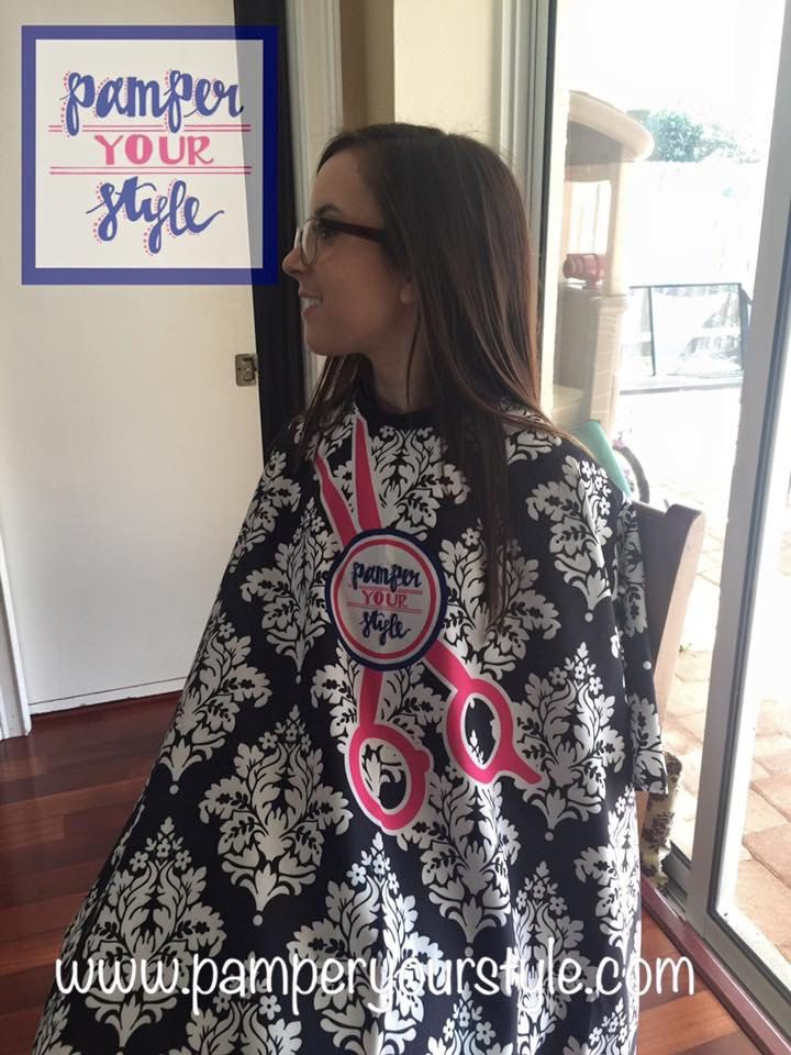 Hair Salon Custom Cape - Cosmetology Cape - Hair Cutting Cape - Personalized Barber Cape - Hair Stylist Cape - Design Your Own Salon Cape by PAMPERYOURSTYLE on Etsy