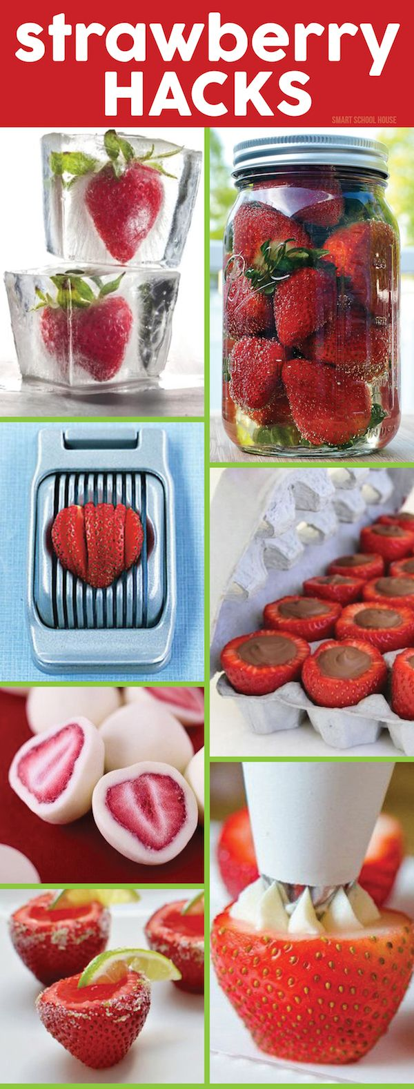 Strawberry Hacks - Genius recipe ideas and kitchen tips for this seasonal fruit.