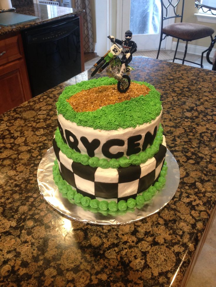 Th Birthday Motorcycle Cake