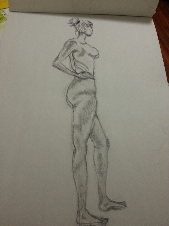 Life drawing- sketches
