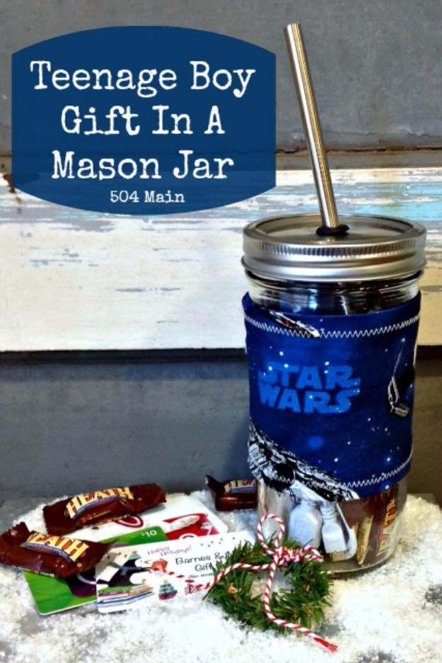 Homemade DIY Gifts in A Jar | Best Mason Jar Cookie Mixes and Recipes, Alcohol Mixers | Fun Gift Ideas for Men, Women, Teens, Kids, Teacher, Mom. Christmas, Holiday, Birthday and Easy Last Minute Gifts | Teenage Boy Gift in a Mason Jar Idea |  http://diyjoy.com/diy-gifts-in-a-jar