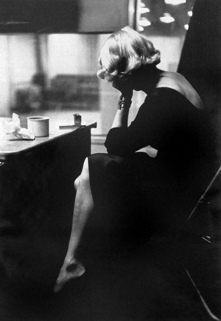 Eve Arnold, Marlene Dietrich at Columbia Records recording Studio, New York, 1952. Magnum Photos