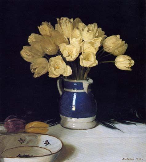 William Nicholson - Yellow Tulips
