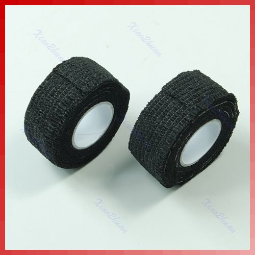 Free Shipping 2 Pcs Roll Black Flex Wrap Finger Bandage Tape File Nail Art Manicure Protective black