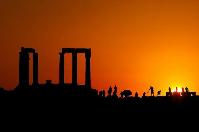 Sunset at Cape Sounio/Athens/Greece   photo credits: Bobesh   http://www.flickr.com/photos/bobesh14