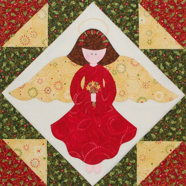 Christmas Quilting Patterns Free : Christmas Angel Quilt Block Quilts: Christmas Quilts Pinterest Angel, Free applique ...