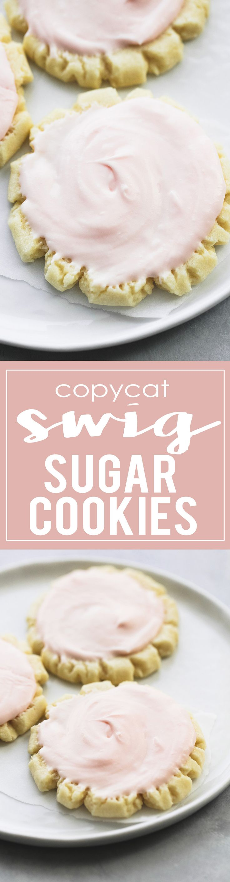 Copycat Swig Sugar Cookies - these taste just like the real deal! They are famous for a good reason, the BEST sugar cookies you will EVER taste! | lecremedelacrumb.com