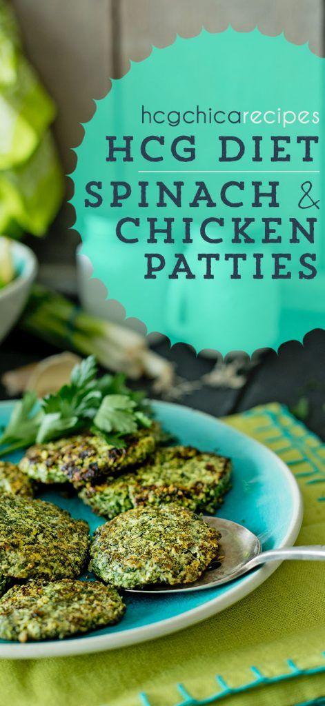 186 calories - Phase 2 hCG Diet Lunch Recipe: Spinach & Chicken Patties - hcghicarecipes.com - Protein + Veggie Meal #hcg #hcgdiet #hcgrecipes #hcgdietrecipes #p2hcgrecipes #phase2hcgrecipes #p2hcgdiet #phase2hcgdiet