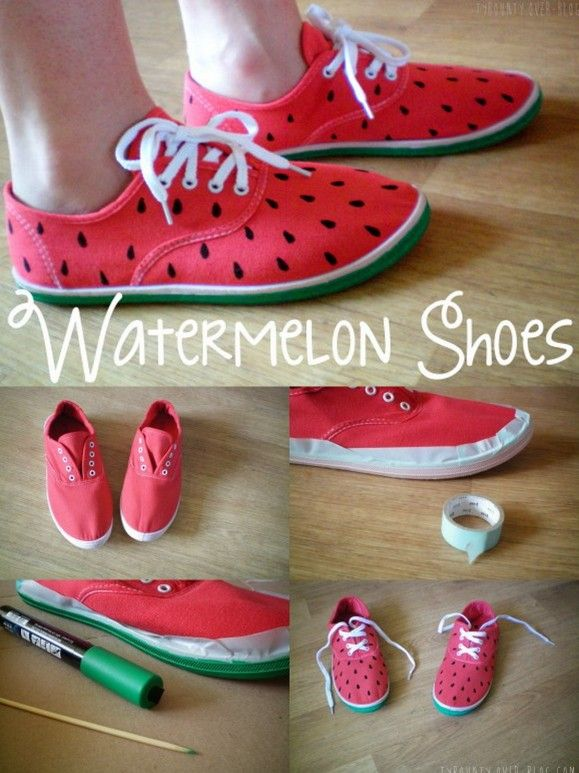 Come to @dirtydancingUS here at The Fabulous Fox wearing your own watermelon shoes. This is a fabulous tutorial!