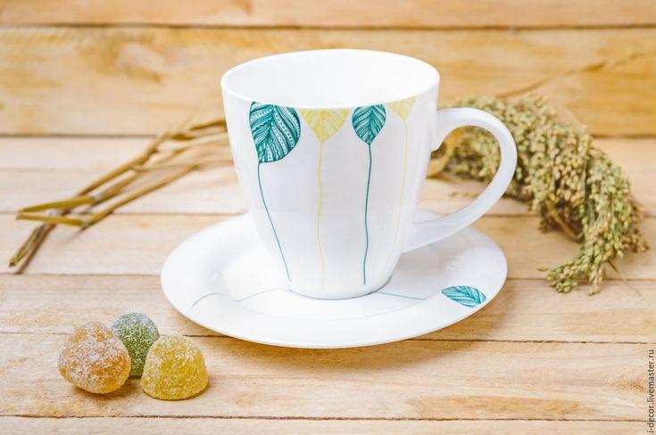 Купить Фарфоровая чайная пара. Чашка в подарок. Шары. - чайная пара, фарфоровая посуда, фарфор
