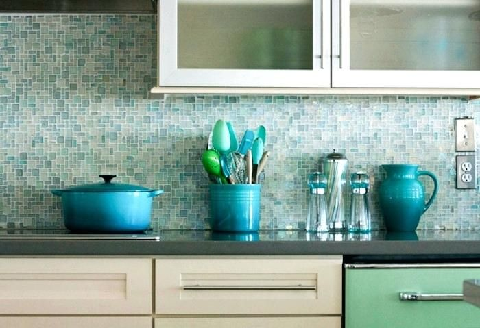 Aqua Blue Kitchen Backsplash Google Search Mosaic Tile Backsplash Kitchen Mosaic Tile Kitchen Blue Backsplash Kitchen