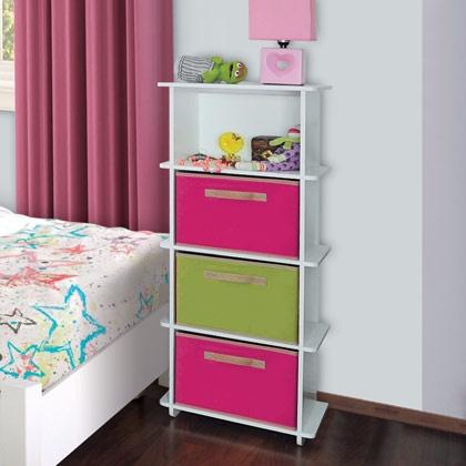 Cajonera Zurich Infantil, ideal para mantener el orden en la recamara de los niños, adaptable a espacios reducidos y con la opción de las cajoneras.