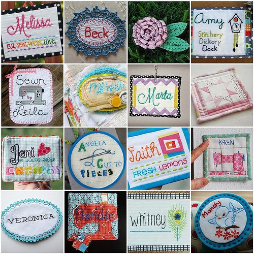 11 best images about Name tags on Pinterest Seasons, Hand embroidery and Quilt