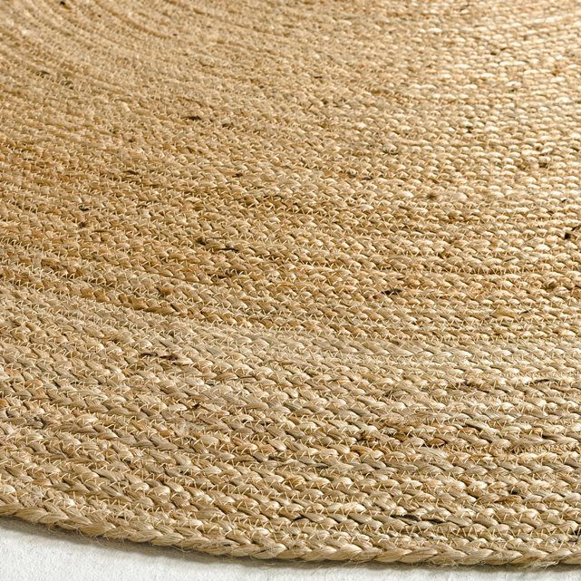 tapis rond en jute hempy 250 cm tapis jute rug rugs et jute. Black Bedroom Furniture Sets. Home Design Ideas