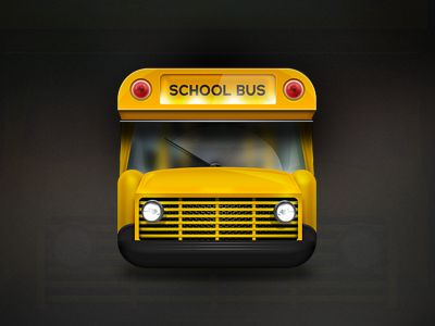 School buss iOS icon design found on Dribbble.