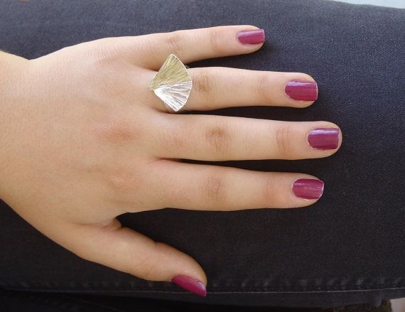 RING  handmade silver ring SHELL by Vroullis on Etsy, €33.00