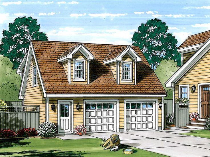 047g 0034 Two Car Garage Apartment Plan With Cape Cod Style Carriage House Plans Pool House Plans Family House Plans