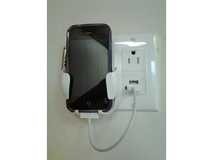 Certicable Cell Phone Charging Station Dock Usb for All Iphones Smartphones Blackberry Wall Plate in White