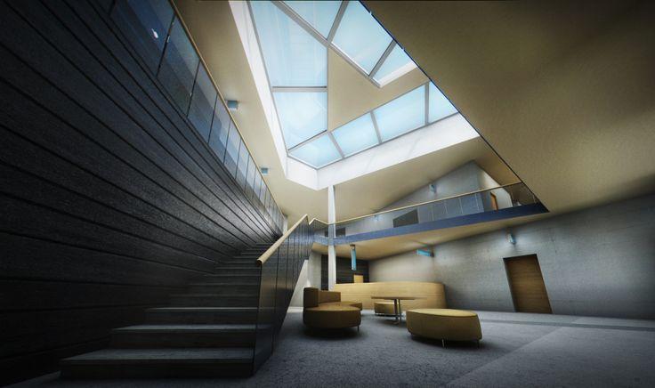 Andritz office interior visualisation