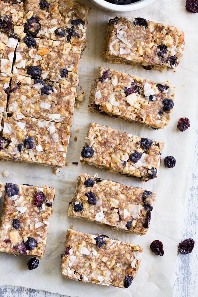 Cherry Berry Grain Free Granola Bars {Paleo, Vegan, No Added Sugar ...