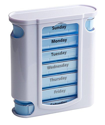 Gifts For Grandma | 7-day Weekly Pill Box Organizer Tower with 4 Times a Day Compartments (Pillbox) for Each Day - Great Christmas Gift Idea for Mom, Dad, Grandpa, or Grandma