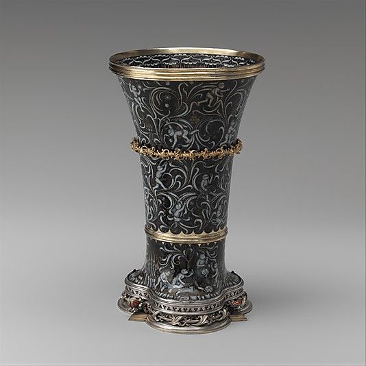 "Beaker (""Monkey Cup""), ca. 1425–50. Made in probably the Burgundian territories. South Netherlandish. The Metropolitan Museum of Art, New York. The Cloisters Collection, 1952 (52.50) #Cloisters"