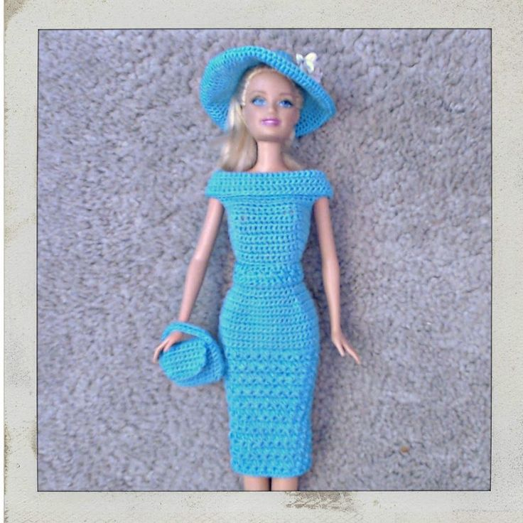 I love to crochet doll clothes for my granddaughter's 16 Barbie dolls & 3 Cabbage Patch Kids..
