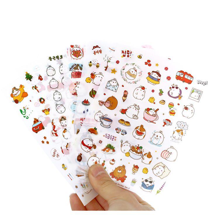Perfect-6 pcs/pack Korea Creative Cartoon Potato Rabbit Series Sticker