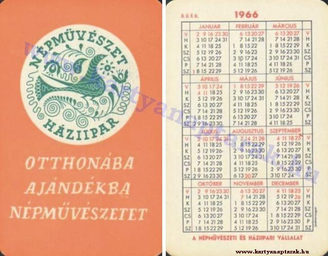 1966 - 1966_0090 - Régi magyar kártyanaptárak