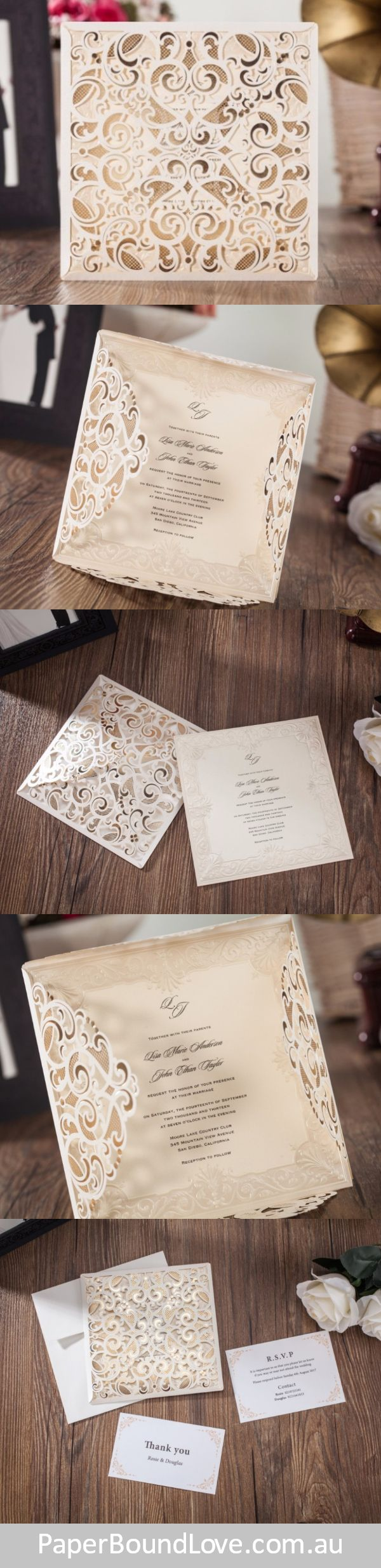 muslim wedding card invitation quotes%0A Regal wedding invitations by Paper Bound Love