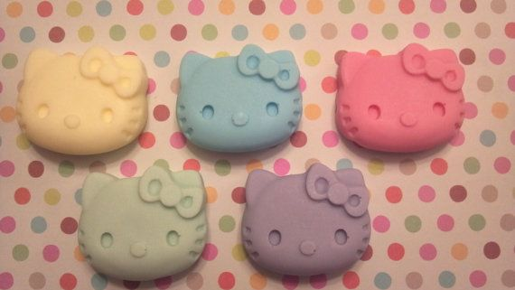 Hello kitty soapsparty favors girls birthday gift por BBSoaps