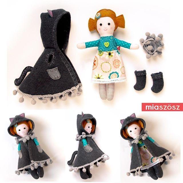 Tiny kittydoll #miazzzetsyshop #pocketdoll #handmadedoll #handmadehungary #bunnydoll #foxdoll #fawndoll #teddydoll #kittydoll #miaszosz #ragdoll