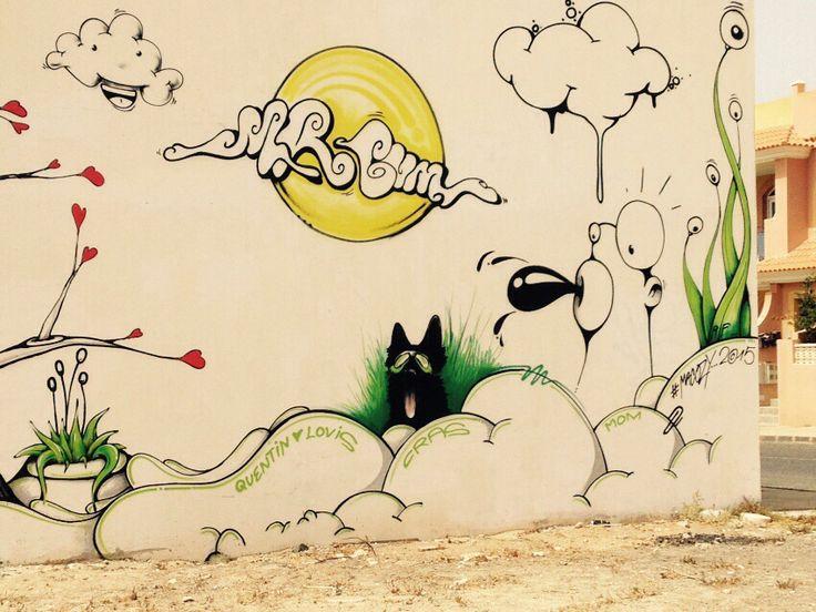 Auf einer Hauswand in El Cotillo