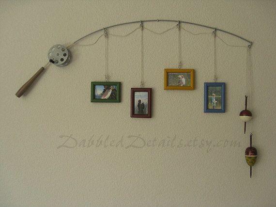 Pêche Perche Photo Frame métal argent 4 cadres par DabbledDetails