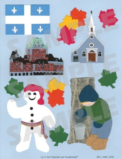 Quebec Scrapbook Embellishment. $1.25, via Etsy.