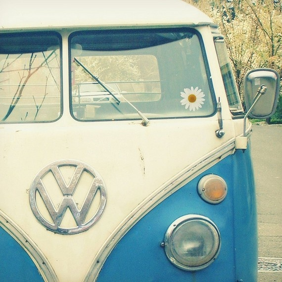 If only I had a van like this to go on a camping trip to France...